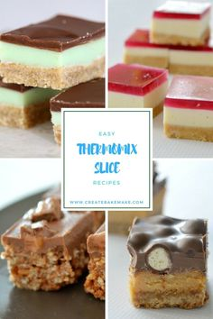 My Favourite Easy Thermomix Slice Recipes - Create Bake Make Thermomix Recipes Healthy, Thermomix Desserts, Köstliche Desserts, Dessert Recipes, Cooking Recipes, No Bake Slices, Bellini Recipe, Snacks, Fudge Recipes