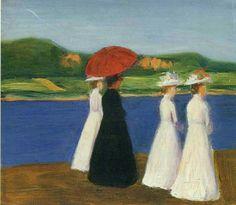 Walk on the Seine - Gabrielle Münter German painter 1877-1962 KUNSTHALLE EMDEN. Henri Nannen Collection