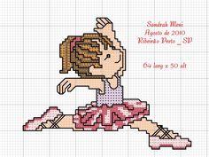 Ponto Cruz, artesanato, bordado, Bailarina