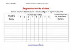 Actividades dislexia Segmentación de palabras Dejamos Plantilla editable - Orientacion Andujar