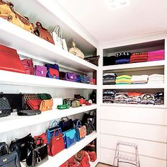 Closet with Bag Shelves, Transitional, Closet