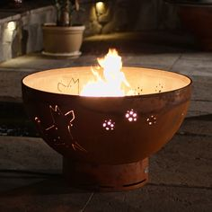 Fire Pit Art Funky Dog Gas Fire Bowl - FUNKY DOG-FPA-MLS120-NG