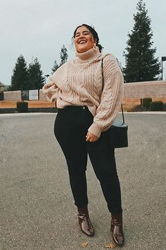 The Smiling Sweetheart - Plus size winter outfits - Winter Outfits For Teen Girls, Plus Size Winter Outfits, Plus Size Fall Outfit, Trendy Fall Outfits, Plus Size Fashion For Women, Plus Size Outfits, Plus Size Winter Clothes, Cute Plus Size Clothes, Formal Winter Outfits