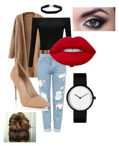 """""""Cuttie #1"""" by summerhobson03 on Polyvore featuring Topshop, Lipsy, Miss Selfridge and Lime Crime"""