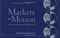 Markets in Motion by Ned Davis. $38.20. Publisher: Wiley; 1 edition (April 26, 2005). 48 pages