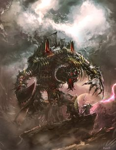 "wh40khq: "" Warhammer - Grey Knight VS Greater Daemon by ~Bradwhitlam """