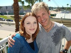Caitlin Glass and Vic Mignogna!  So, the amazing and talented Caitlin Glass is also a Christian. Nice!