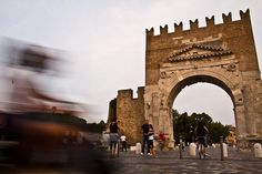 """""""Walking under Augustus arch"""" Rimini by Giuseppe Trisciuoglio, via Flickr"""