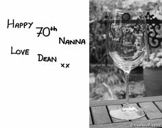 A Childs Handwriting engraved on a Crystal Wine Glass by Alexis Valentine of  www.walkingonglass.co.uk  Bespoke Engraved Gifts www.facebook.com/walkingonglass.co.uk