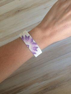Bracelet ELSA Violet  Blanc