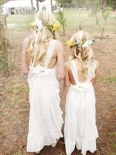 Amelie Dress by Tea Princess boho wedding, boho flower girl,, rustic wedding, flower girl