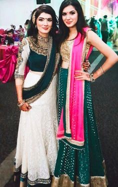 """""""There is no better friend than a sister. And there is no better sister than you"""" A beautiful moment captured of sisters both wearing unique #Wellgroomedinc designs. Absolutely stunning ladies ❤️"""
