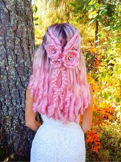 17 Best interesting braided rose hair designs – Sayfa 14 / 17 – Fashion & Beauty - All About Pretty Hairstyles, Braided Hairstyles, Girl With Pink Hair, Hair Meaning, Rose Hair, Cool Hair Color, Hair Dos, Hair Designs, Hair Trends