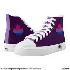 Bisexuality pride maple leaf printed shoes