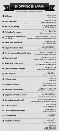 Essential Japanese phrases for shopping part 1. japanesetest4you....