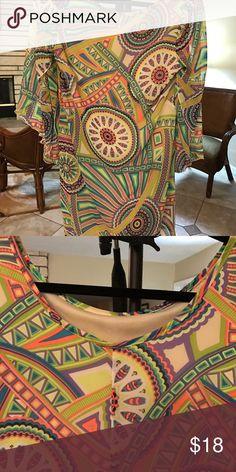 Print tunic/dress Print sleeve tunic/dress Dresses