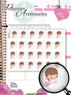 Tired Stickers Sleeping Stickers Planner Stickers Cute Stickers Erin Condren Functional Stickers Kawaii Stickers NR1369 by emelysplannershop. Explore more products on http://emelysplannershop.etsy.com