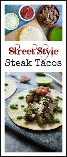 Make street style steak tacos for an authentic taco night!