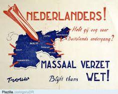 Poster van het verzet tijdens de tweede wereldoorlog.