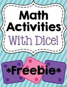 Math Activities With Dice - students will be able to practice addition, graphing, and more! These activities are perfect for math centers, workstations, or just extra practice after a lesson! Math Stations, Math Centers, Math Resources, Math Activities, Math Enrichment, Daily 5 Math, Daily 3, Math Groups, Second Grade Math