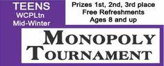 Midwinter Monopoly Tournament Franklin, TN #Kids #Events