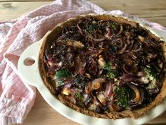 Savory Tart with Broccoli, Goat's Cheese