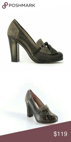 """High Heelee Loafers Classic tasseled suede loafers from Plenty by Tracy Reese. Versatile gray-brown hue. Suede upper, synthetic lining, leather sole. Imported. Front tassel detail 3 1/2"""" heel, 1/2"""" platform. Never worn. Plenty by Tracy Reese Shoes Heels"""