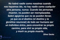 Frases célebres. Las mejores frases de Oliver Sacks