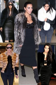 BAZAAR Boards: It's All Cozy, All the Time for Kim - love the black coat, top left, if it were faux...