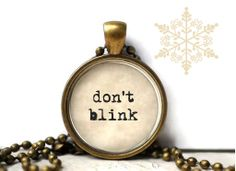 Dr. Who don't blink weeping angels resin necklace or key chain word fandom word jewelry on Etsy, $15.00