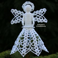 Check out this item in my Etsy shop https://www.etsy.com/uk/listing/253871435/crochet-angel-tree-topper