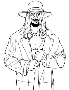 WWE Coloring Pages to Print | Wrestling WWE Coloring Pages Free Printable Download