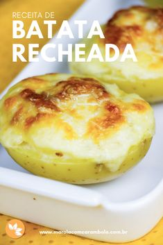 Receita de Batata recheada com Bacon Carne, Tapas, Buffet, Food And Drink, Low Carb, Pasta, Bread, Kitchen, Tasty Food Recipes