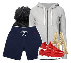 """""""i hate this but.."""" by princess-miyah ❤ liked on Polyvore featuring James Perse, October's Very Own and NIKE"""