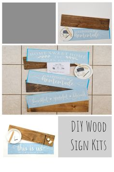 Create your own farmhouse decor at home with these fun and easy wood sign kits! Diy Wood Signs, Custom Wood Signs, Farmhouse Frames, Farmhouse Decor, Table Centerpieces For Home, Homemade Tables, Make Your Own Sign, Wine Signs, Pallet Designs