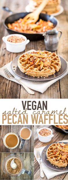 There may be no better way to wake up than with a plate of these vegan Salted Caramel Pecan Waffles. Click the photo for the full recipe.