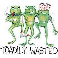 Toadily Wasted Frogs NEW T Shirt S M L XL 2X 3X 4X 5X *Free Shipping*
