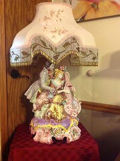Capodimonte Lamp Vintage