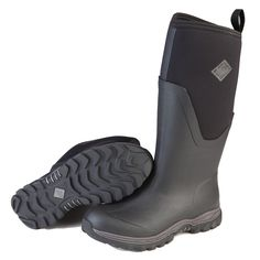 Easiest way to put on your Muck Boots? Roll down the upper first ...