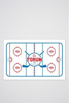 Montreal Forum Art Print - Main and Local