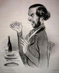 Honoré Daumier nos presenta a través de sus caricaturas cargadas de sátira los personajes de mediados del s.XIX. Daumier es considerado uno de los primeros caricaturistas de la historia del arte. Si bien sus obras son expresivas y exageradas lo incluimos dentro de la línea del realismo social, por los temas que presenta.