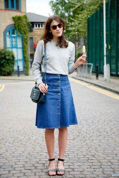 Virtuosas com Estilo: {Tendência} Saias Jeans de Botões...