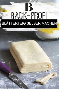 Blätterteig selber machen Make puff pastry yourself. Making puff pastry yourself - the basic recipe and tips from the baking professionals from the BRIGITTE experimental kitchen. Cooking For Beginners, Cooking Tips, Puff Pastry Recipes, Different Recipes, Meals For One, Atkins, Food Items, Shrimp Recipes, Vegetarian Recipes