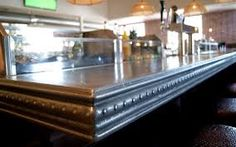 metal countertops for bars - Google Search
