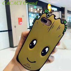 lovely guardians of the galaxy groot case etui for iphone 6 6s 7 7plus 6splus 6 plus 6s plus cartoon silicon cover coque fundas  #Affiliate