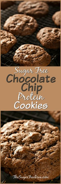 Sugar Free Chocolate Chip Protein Cookies