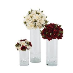 Flower Topped Vases Creating an elegant display for special occasions such as weddings, showers and the holidays requires only a few simple supplies, but makes a huge statement.