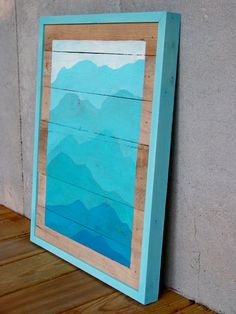 SALE  Reclaimed Wood Pallet Turquoise by RusticWoodOriginals, $110.00
