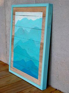 SALE  Reclaimed Wood Pallet Turquoise by RusticWoodOriginals, $110.00