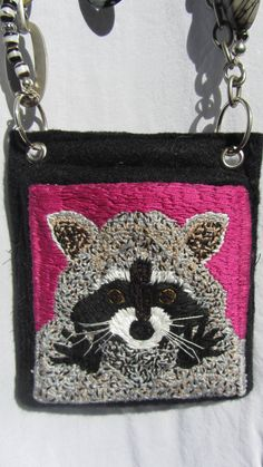 Items similar to Bandit on Etsy Penny Rugs, Inventions, Hand Embroidery, Coin Purse, Trending Outfits, Wallet, Unique Jewelry, Handmade Gifts, Bags